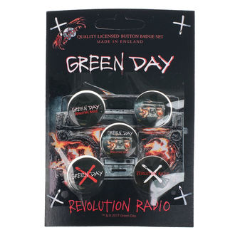 Значки Green Day - Revolution Radio - RAZAMATAZ, RAZAMATAZ, Green Day
