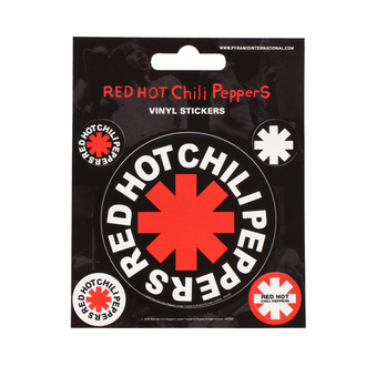 Наклейки RED HOT CHILI PEPPER - PYRAMID POSTERS, PYRAMID POSTERS, Red Hot Chili Peppers
