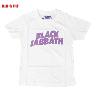Дитяча футболка Black Sabbath - Хвилястий Логотип - ROCK OFF, ROCK OFF, Black Sabbath