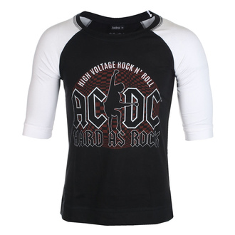 Футболка унісекс з рукавами 3/4  AC / DC - Hard As Rock - BL / WHT Raglan - ROCK OFF, ROCK OFF, AC-DC