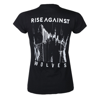 Жіноча футболка Rise Against - Wolves Pocket Girl Fitted - Чорний - KINGS ROAD, KINGS ROAD, Rise Against
