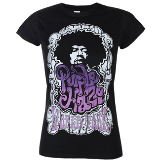Жіноча футболка Jimi Hendrix - Purple Haze World Tour - Чорна - HYBRIS, HYBRIS, Jimi Hendrix