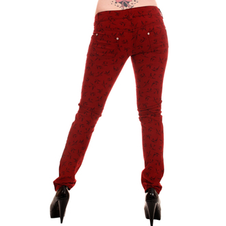 брюки жінки 3RDAND56th - Swallow Skinny Jeans - Вино, 3RDAND56th