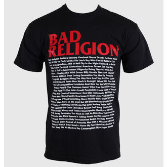 футболка метал чоловічий Bad Religion - Song List - KINGS ROAD, KINGS ROAD, Bad Religion