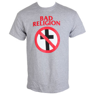 футболка метал чоловічий Bad Religion - Crossbuster Heather Gray - KINGS ROAD, KINGS ROAD, Bad Religion