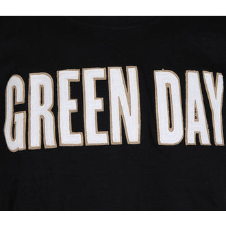 футболка метал чоловічий Green Day - Logo & Grenade Applique Slub - ROCK OFF, ROCK OFF, Green Day