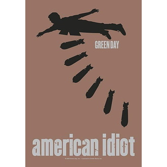 Прапор Green Day - American idiot Bombs, HEART ROCK, Green Day