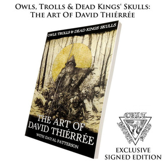 Книга Owls, Trolls, Dead King's Skulls: The Art Of David Thiérrée (підписана), CULT NEVER DIE