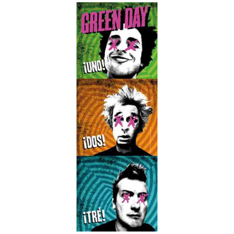 Прапор Green Day - 1-2-3, HEART ROCK, Green Day