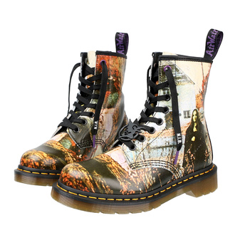 Черевики DR. MARTENS - з 8-ма отворами для шнурків - 1460 BLACK SABBATH - multi black, backhand straw grain, Dr. Martens, Black Sabbath