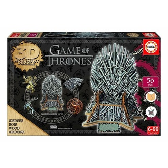 Головоломка пазл Game of Thrones (&&string1&&) - 3D Monument - Залізо Трон, NNM, Game of thrones