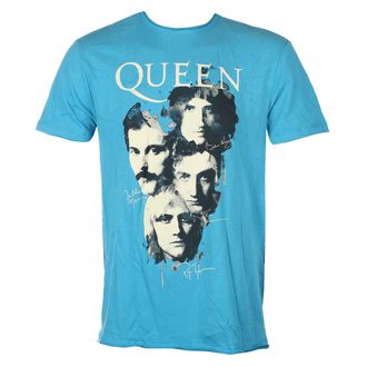 Чоловіча футболка QUEEN - AUTOGRAPHS - Teal PANTHER - AMPLIFIED, AMPLIFIED, Queen